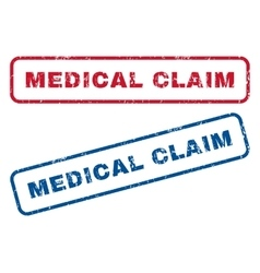Medical Claim Rubber Stamps vector image