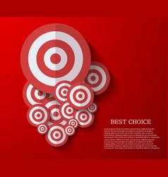 modern flat darts background Eps 10 vector image vector image