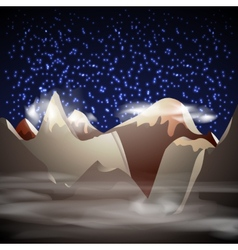 Mountain night landscape vector image vector image