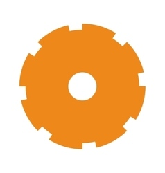 orange silhouette toothed pinion icon vector image