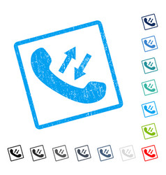 Phone talking icon rubber watermark vector