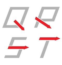 Q r s t letters vector