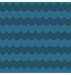 Sea blue wave background wavy seamless pattern vector image