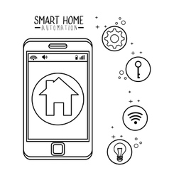 Smart home automation tech vector