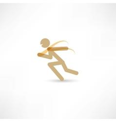 sprinter man vector image vector image
