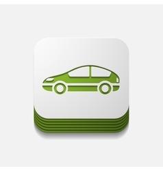 Square button car vector