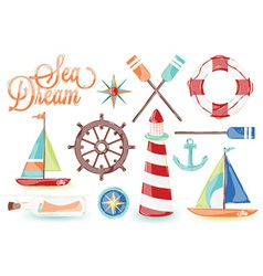 Sea Driam Icons vector image