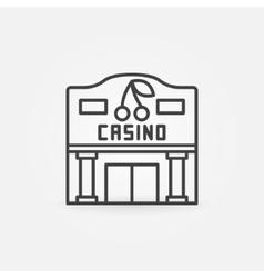 Casino building line icon vector