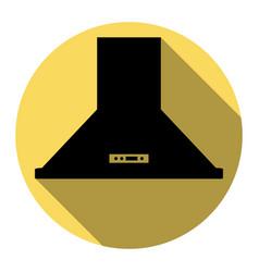 exhaust hood kitchen ventilation sign vector image