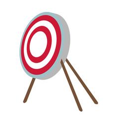 Target bullseye strategy goal sign symbol icon vector