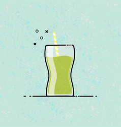 smoothie mbe style icon design vector image