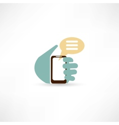 Message on the phone vector