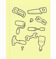 Carpentry tools vector