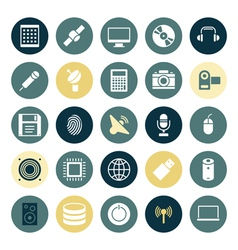 Flat design icons for technology and devices vector image