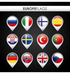Europe flags design vector
