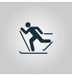 Skiing icon vector