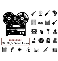 Icon set music vector