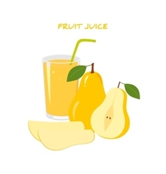 Natural fresh pear juice vector