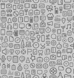 Interface icons seamless background vector