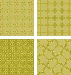 Yellow seamless pattern background set vector