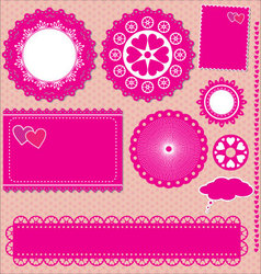 Image of set lace frames vector