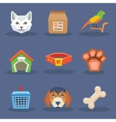 Animal veterynary pet treatment icons set vector