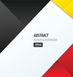 background dimension modern black red yellow vector image vector image