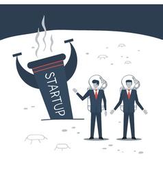 Business experience entrepreneur crisis vector