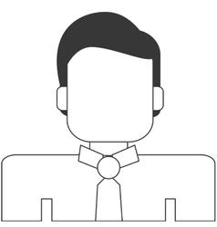 businessman portrait icon line design vector image