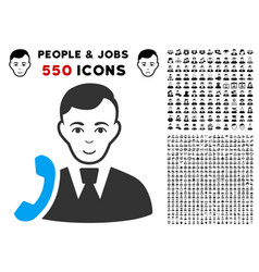 Call manager icon with bonus vector