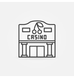 Casino building line icon vector image vector image