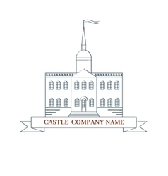 Castle perfect logo for luxury real estate vector