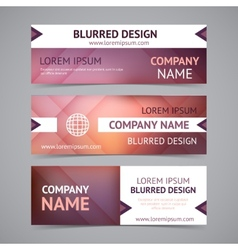 Company banners with blurred backgrounds vector