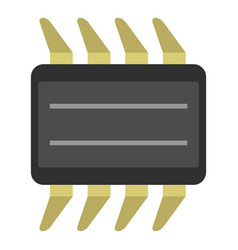 Cpu icon isolated vector