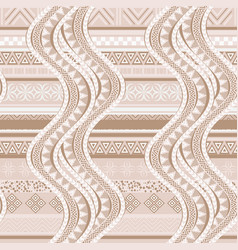 ethnic waves seamless pattern vector image