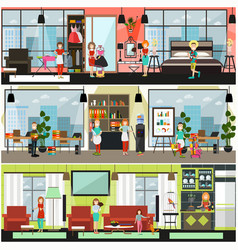 home and office cleaning services poster vector image vector image