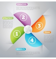 Infographics business concept of strage template vector image vector image