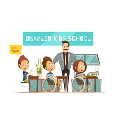 Learning of disabled kids vector