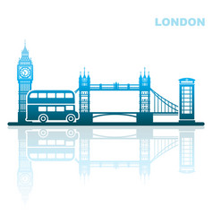 London sights abstract landscape vector