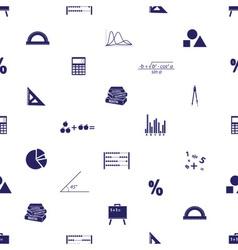 Mathematics icons seamless pattern eps10 vector