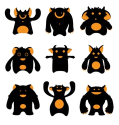 monsters silhouettes vector image vector image
