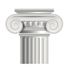 Object roman or greek column vector