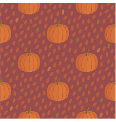 pumpkin seamless pattern thanksgiving background vector image vector image