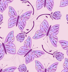 Seamless butterfly camouflage vector