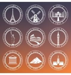 Set badges of travel vector