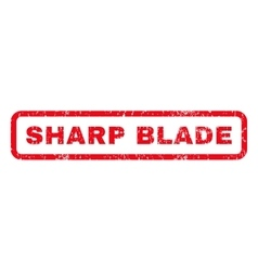 Sharp blade rubber stamp vector