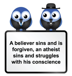 Sign athiest two vector