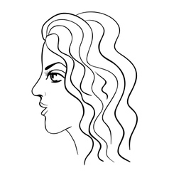 Sketch of face vector image vector image