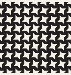 Star line shapes grid seamless black and vector