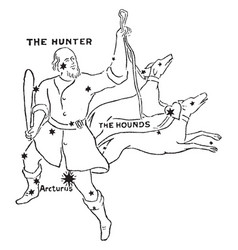 The hunter and hounds vintage vector